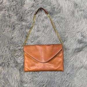 J crew shoulder brown bag